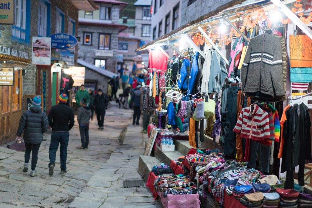 namche bazaar on the way to everest base camp