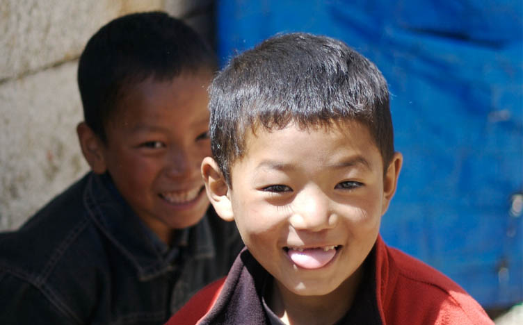 Boys at Everest Region Nepal