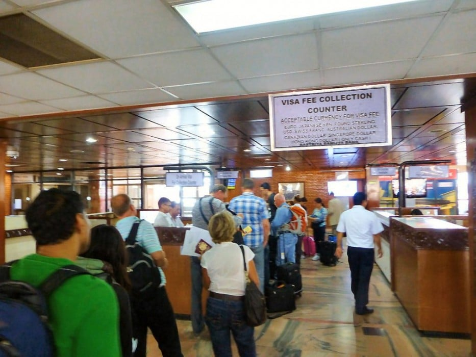immigration desk Nepal airport