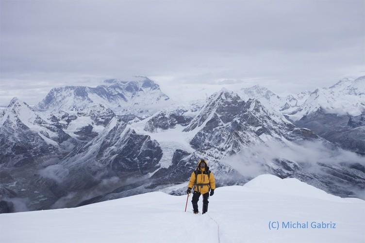 Last steps to Mera Peak Summit, Nepal, Himalaya