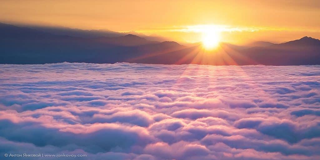 sunrise from nagarkot - tour in nepal